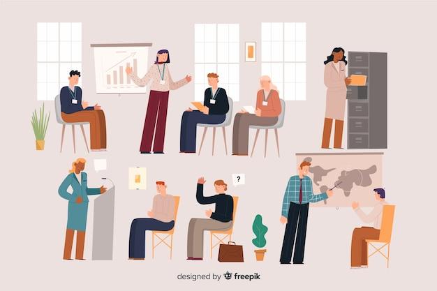 Mensen op kantoor Gratis Vector