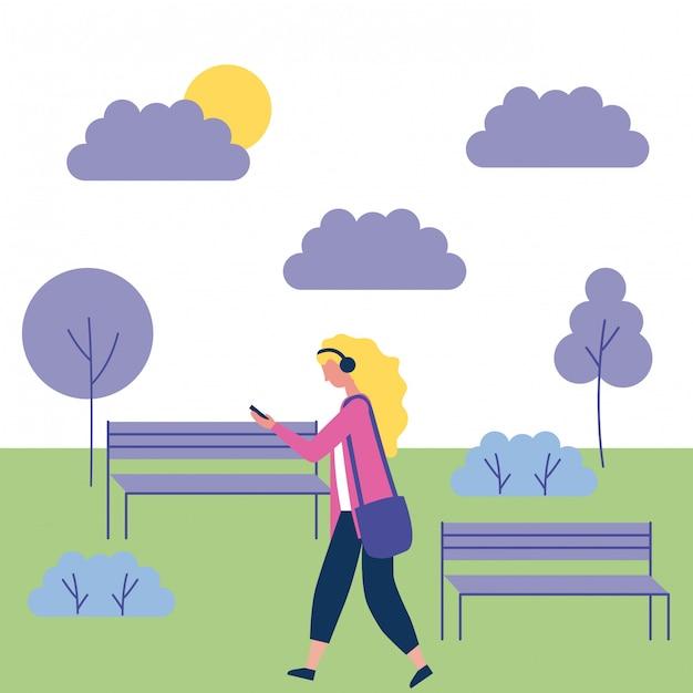 Mensen outdoor-activiteiten Gratis Vector