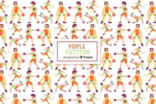 Mensen patroon Gratis Vector