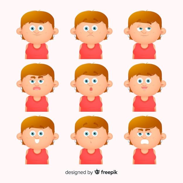 Mensen tonen emoties Gratis Vector