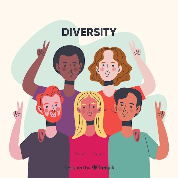 Mensen van verschillende culturen en rassen Gratis Vector