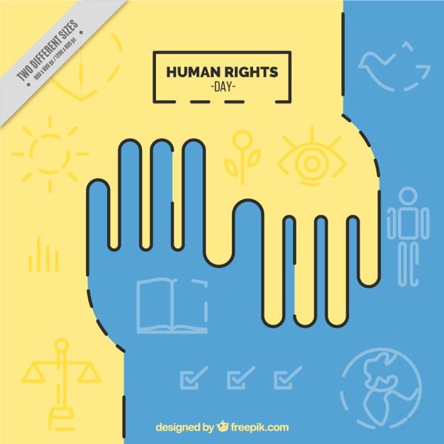Mensenrechten dag achtergrond Gratis Vector