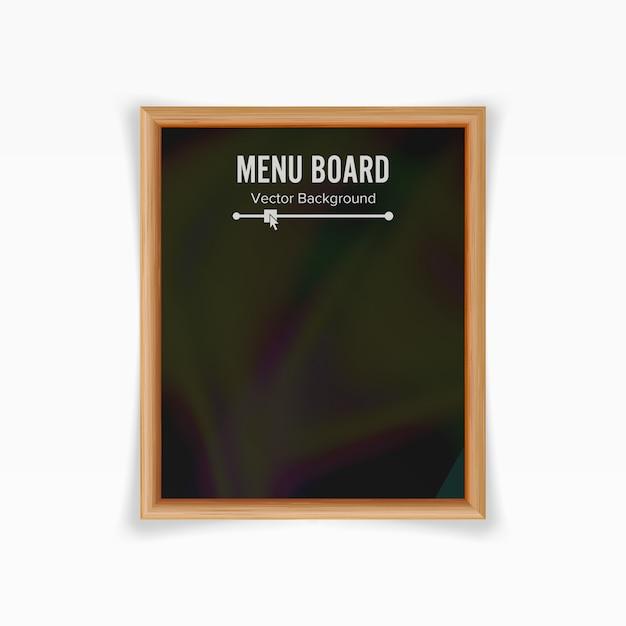 Menu black board vector Premium Vector