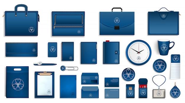 Merk icon set Premium Vector
