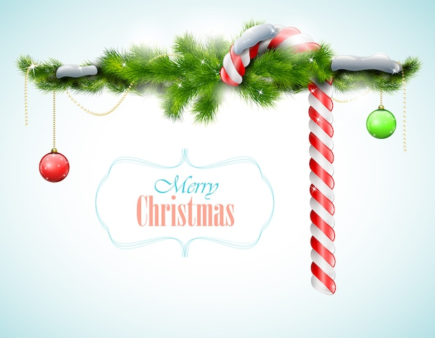 Merry christmas achtergrond Premium Vector