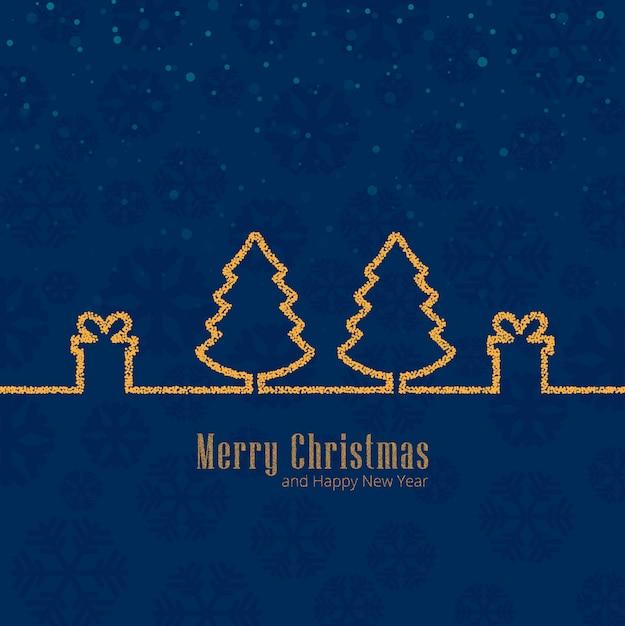 Merry christmas celebration achtergrond Gratis Vector