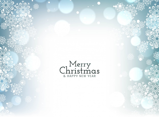 Merry christmas celebration groet bokeh Gratis Vector