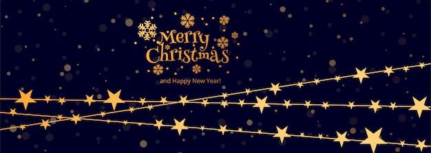 Merry christmas celebration kaartsjabloon spandoekontwerp Premium Vector