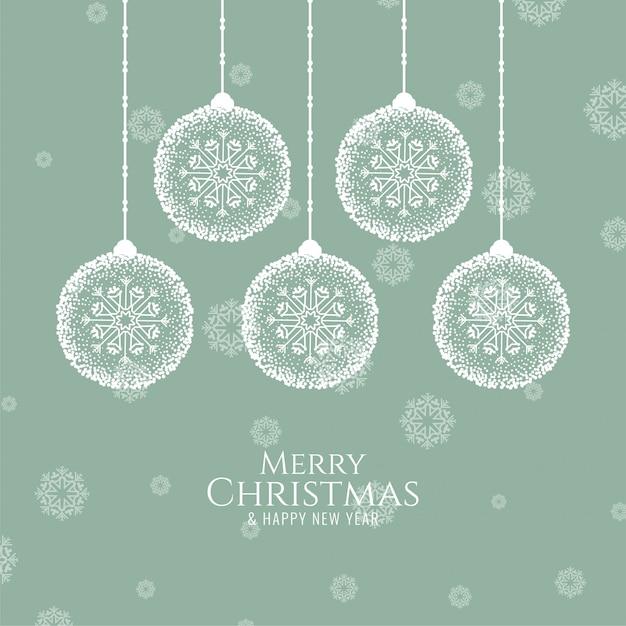 Merry christmas decoratieve feestelijk Gratis Vector