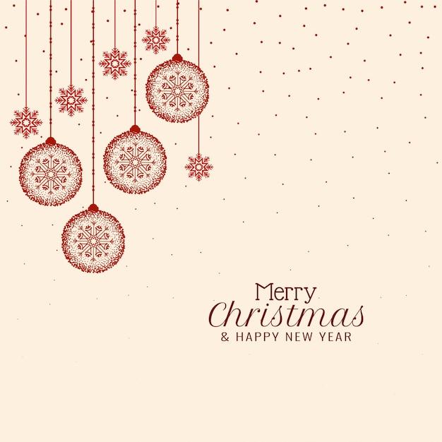 Merry christmas elegante festivalgroet Gratis Vector