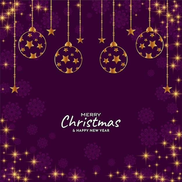 Merry christmas festival glanzende sterren achtergrond Gratis Vector