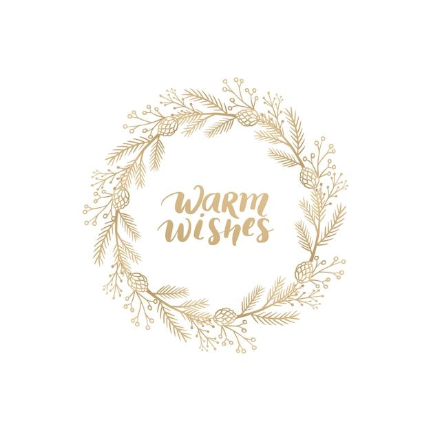 Merry christmas frame Premium Vector