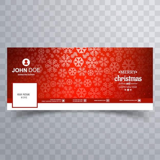 Merry christmas glanzende sneeuwvlok banner Premium Vector