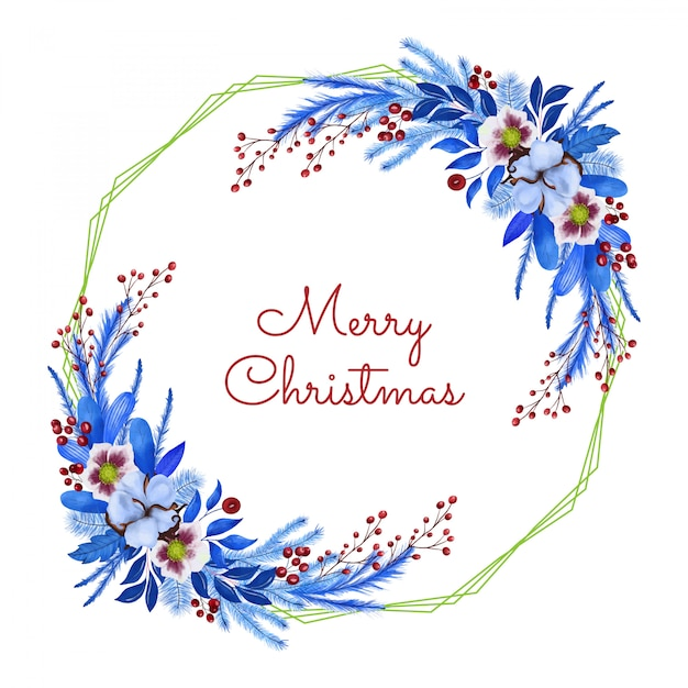 Merry christmas groet cand Premium Vector