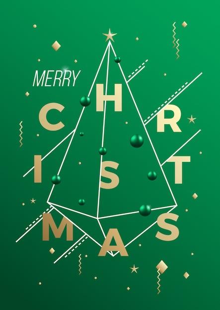 Merry christmas illustratie Gratis Vector