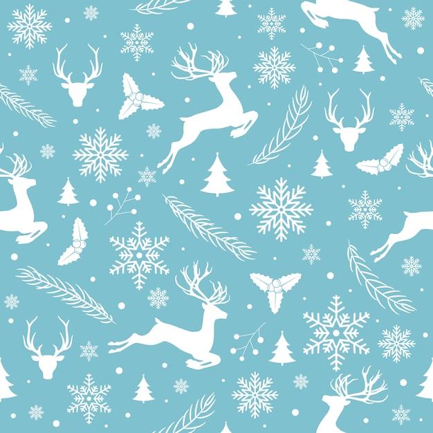 Merry christmas-patroon naadloos Gratis Vector