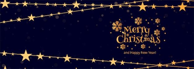 Merry christmas sjabloon voor spandoek met ornamenten Gratis Vector