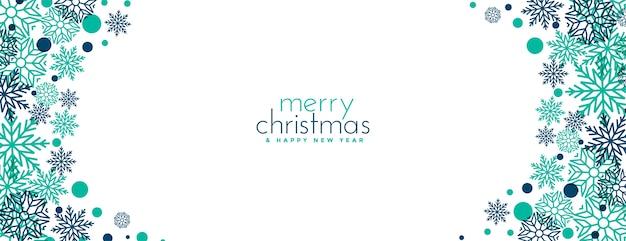 Merry christmas sneeuwvlokken festival banner Gratis Vector