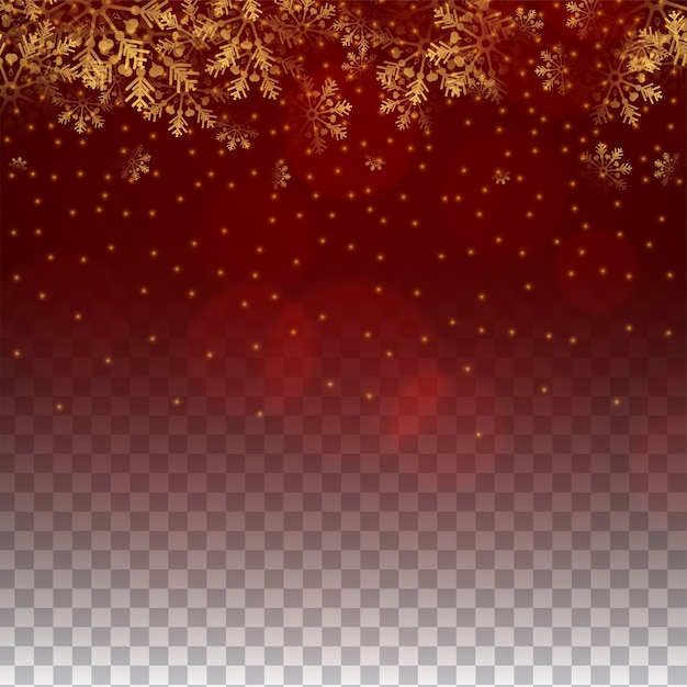 Merry christmas sneeuwvlokken rode kleur transparante achtergrond Gratis Vector