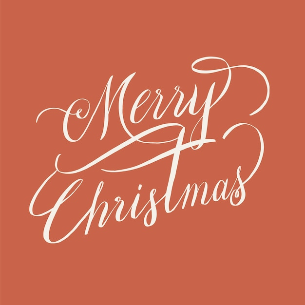 Merry christmas typografie stijl Gratis Vector