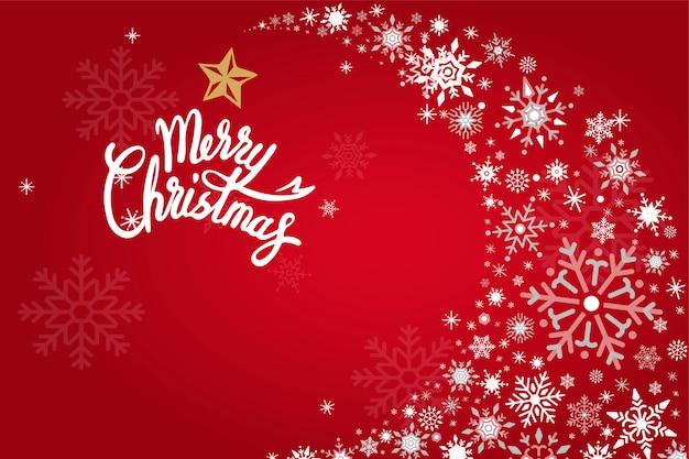 Merry christmas vakantie ontwerp achtergrond vector Gratis Vector