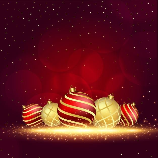 Merry christmas wenskaart achtergrond Gratis Vector