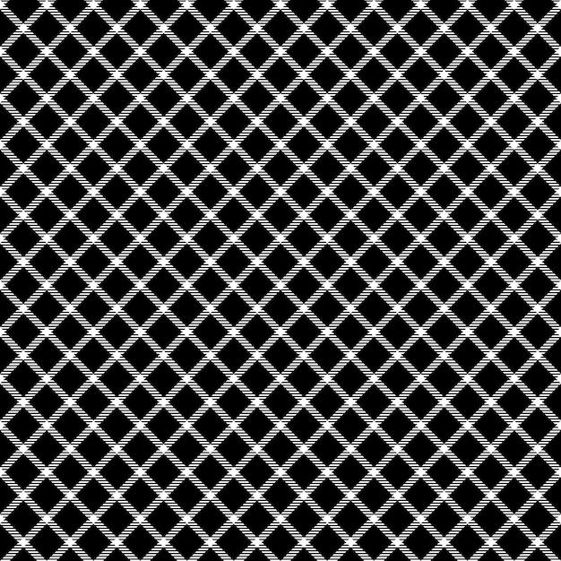Mesh zwart selectievakje sieraad naadloos patroon Premium Vector