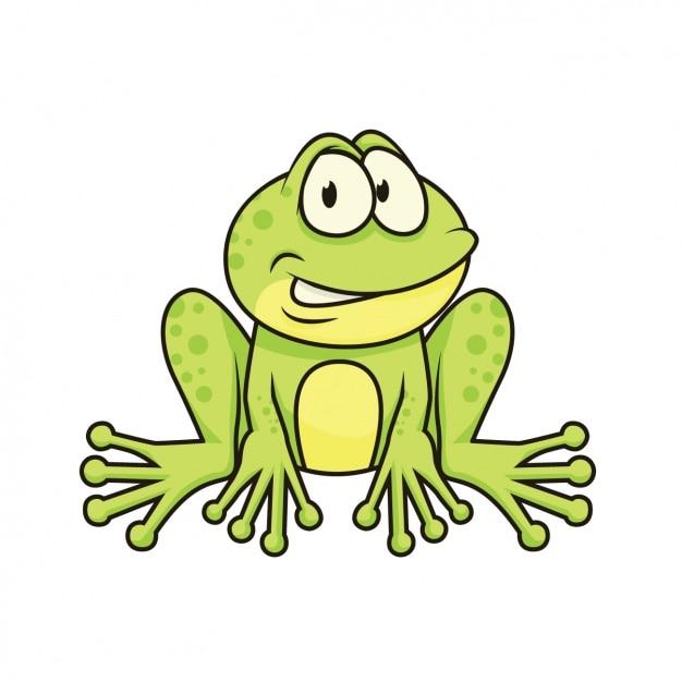 Met de hand geschilderd frog design Gratis Vector