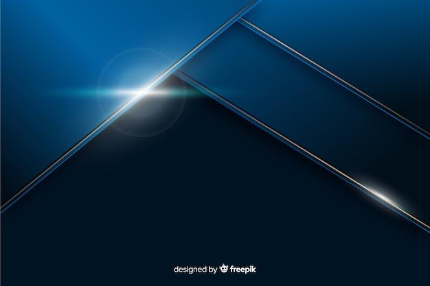 Metaal blauwe achtergrond met abstracte vorm Gratis Vector
