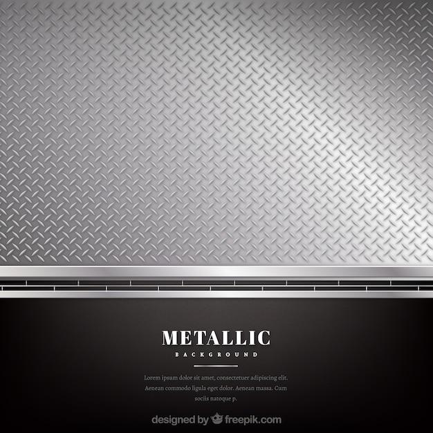 Metaal zwarte en zilveren achtergrond Gratis Vector