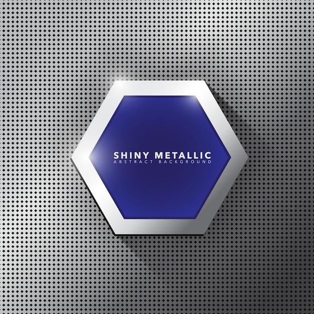 Metalen banner sjabloon Gratis Vector