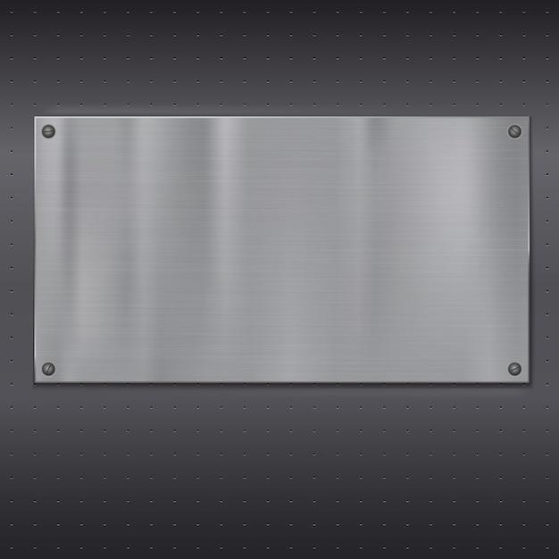 Metalen plaat over rooster textuur. Premium Vector
