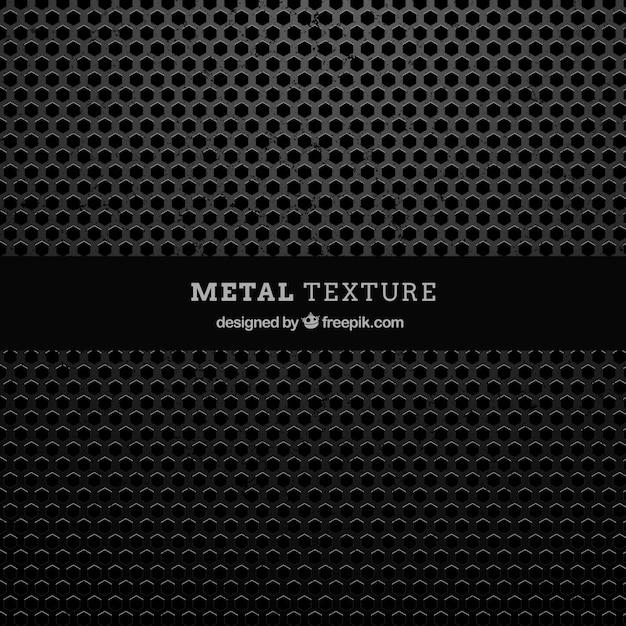 Metalen structuur met zeshoekige vormen Gratis Vector