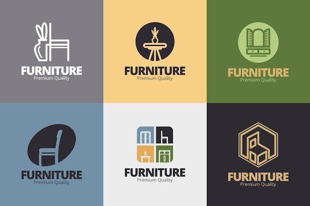 Meubels logo collectie Premium Vector