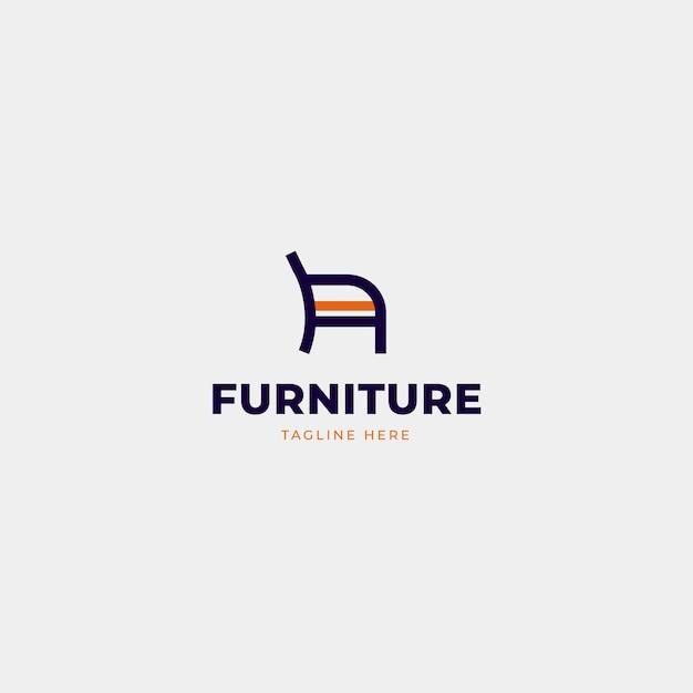 Meubels logo sjabloon Premium Vector