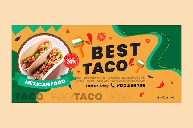 Mexicaans eten banner Gratis Vector