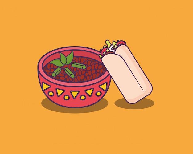 Mexicaans eten Premium Vector