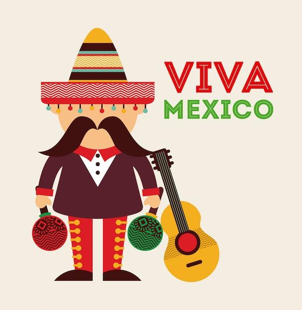 Mexicaans pictogramontwerp Premium Vector