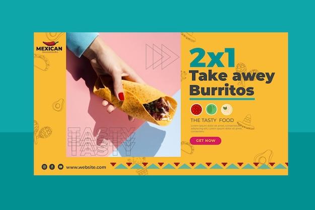 Mexicaans restaurant banner Gratis Vector