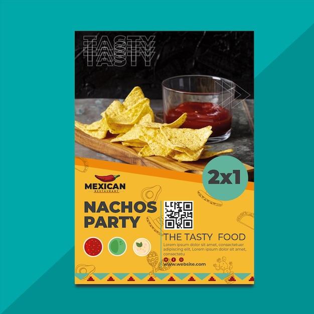 Mexicaans restaurant poster Premium Vector