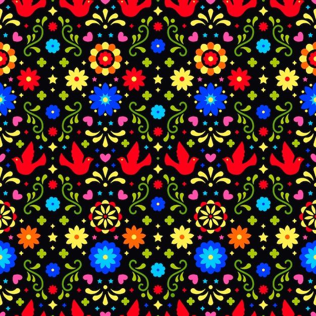 Mexicaanse achtergrond. naadloos patroon voor fiesta-feest. Premium Vector