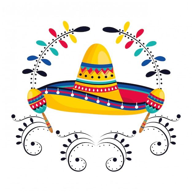 Mexicaanse cultuur mexico cartoon Premium Vector