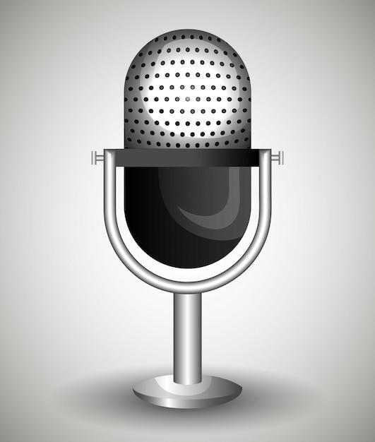 Microfoon pictogram Gratis Vector
