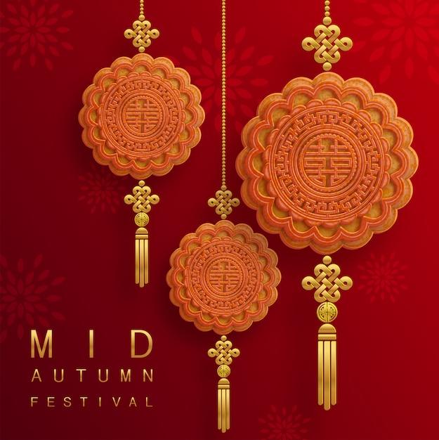 Mid autumn festival illustratie Premium Vector
