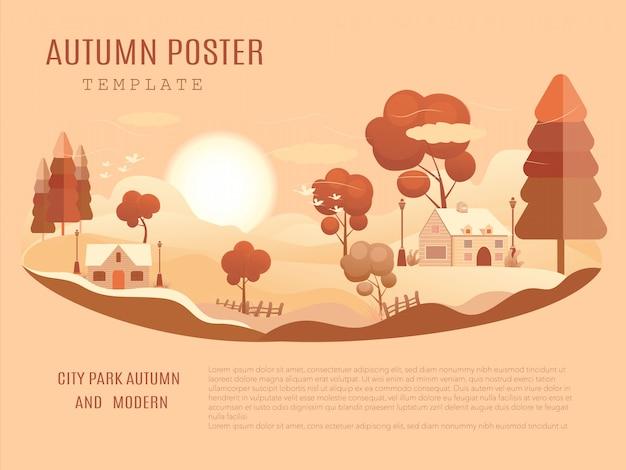 Mid-herfst festival poster sjabloon Premium Vector
