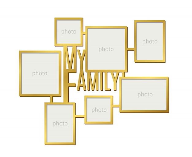 Mijn familie fotolijst ingesteld Premium Vector