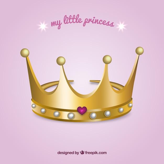 Mijn kleine prinses Gratis Vector