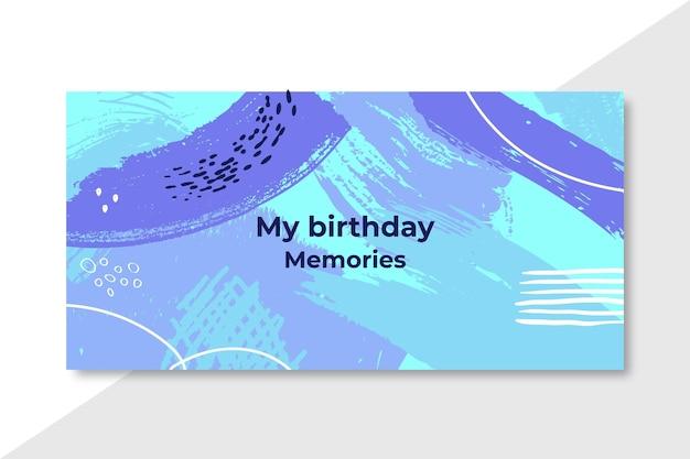 Mijn verjaardagsherinneringen abstracte banner Gratis Vector