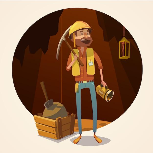 Mijnbouw concept illustratie Gratis Vector