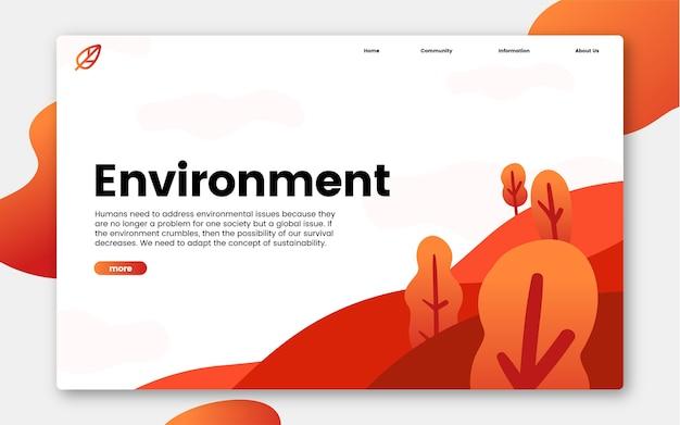 Milieu en natuur informatie grafische website Gratis Vector